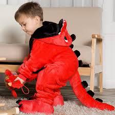 <b>Children's pajamas cartoon new</b> jumpsuit flannel dinosaur animal ...