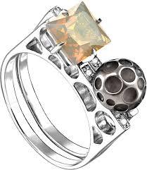 Серебряное кольцо <b>Kabarovsky</b> 11-166-50089 с ситаллом ...
