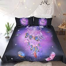 HULI <b>3</b> Pcs <b>Dreamcatcher</b> Galaxy Bedding <b>Dream Catcher</b> Owl Bed ...