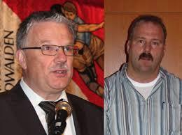 Sie machen jüngeren Platz im Vorstand des Innerschweizer Verbandes: Präsident Paul Vogel (links) und der Technische Leiter Eugen Hasler. - paul_vogel_geni_hasler201_0