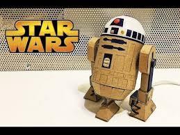 How to make <b>R2D2</b> Droid from cardboard<b>Star Wars</b> glowing <b>toy</b> DIY ...
