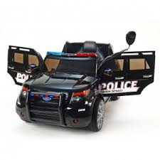 Детский <b>электромобиль Hollicy</b> Ford Explorer Police Black 12V 2.4 ...