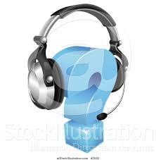 vector illustration of a d question mark wearing a customer vector illustration of a 3d question mark wearing a customer service head set