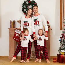 Parent-Child Pajamas Christmas Family Sets for Daddy <b>Men Letter</b> ...