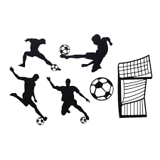 1sets <b>Cake Toppers Flags</b> Football Kids Happy Birthday Black ...