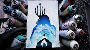 Aquaman <b>GLOW IN THE</b> DARK Spray Paint Art by Skech - YouTube