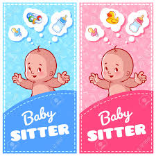 two vertical flyer of babysitter cute toddler and baby toys two vertical flyer of babysitter cute toddler and baby toys two vertical orientation banner