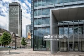 entrance of an office building frankfurt germany stock photo building an office