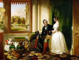 Windsor Castle in modern times; Queen Victoria, Prince Albert and Victoria, Princess Royal