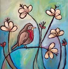 <b>Paint</b> & Pour! <b>Spring Bird Painting</b> with Dana Sweney. | Cherry ...