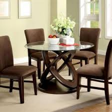 round dining table base: room table bases furniture dark brown glossy mahogany wood legs round dining room table glass top