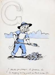 g stands for georgie a gardener he is digging away just as hard g stands for georgie a gardener he is digging away just as hard as