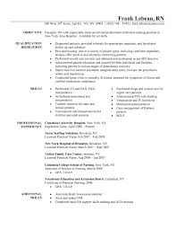 professional nurse resume student resume template nurse resume example sample graduate school schools and nurses