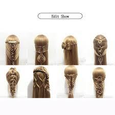 Salon <b>Mannequin</b> Head For Editing Beauty Hair With <b>Yaki Synthetic</b> ...