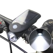 <b>Bike Bicycle</b> 4 <b>LED Solar Power</b> USB Rechargeable Front Head ...
