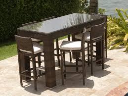 wicker bar height dining table: source outdoor zen  piece wicker pub set
