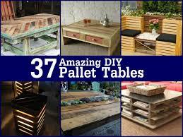 37 amazing diy pallet tables gardening amazing diy pallet furniture
