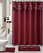 Dom i Meble Red Shower Curtain <b>Triangular Mosaic</b> with Poly Print ...
