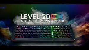 <b>Thermaltake Level 20 RGB</b> Gaming Keyboard - YouTube