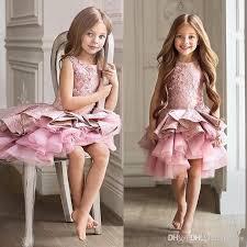 <b>Gorgeous Pink Toddler Flower</b> Girl Dress For Wedding A Line Knee ...