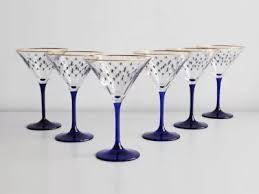 <b>Набор</b> (<b>6 стаканов</b> для мартини) 150 мл Кобальтовая сетка арт ...