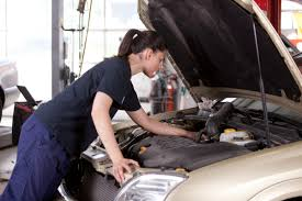 ncea and getting into training and jobs a female student mechanic fixes a car