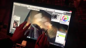 Painter X3 on Windows 8 multi-touch display - YouTube