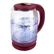Электрический стеклянный чайник <b>LUMME LU-142 красный рубин</b>