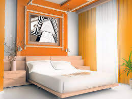 astonishing grey and dark orange wall colors schemes kids bedroom design with abstract art wall decor and large orange rod curtain panel plus low profiles astonishing kids bedroom