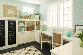 basement office home office beach style image ideas with blue wallpaper beach interior design area homeoffice homeoffice interiordesign understair