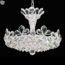 chandeliers polished chrome flower chandelier 6 lights crystal lamps bedroom lamps cheap d40cm x h33cm cheap contemporary lighting