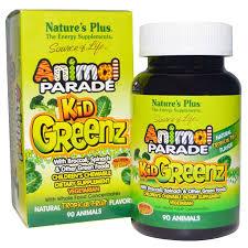 Nature's Plus, Source of Life, Animal Parade, Kid Greenz, вкус ...