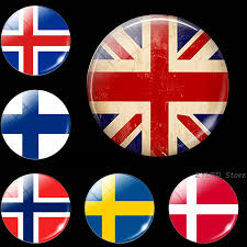 Britain Finland Flag fridge <b>magnet 1PCS</b> Glass cabochon Iceland ...