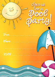 printable party invitations summer pool party invites printable party invitations summer pool party invites