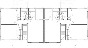 Duplex House Plans  Duplex Plans With Garages Together  D  Upper Floor Plan for Duplex house plans  duplex plans   garages together