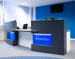 reception desk light in blue acrylic lighted reception desk reception counter design
