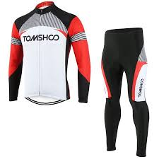 TOMSHOO <b>Spring Autumn Men</b> Cycling Clothing Set Sportswear ...