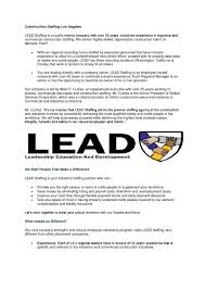 construction staffing los angeles by leadstaff issuu
