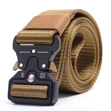 <b>3.8cm Men</b> Canvas Belt Quick Release <b>Metal</b> Buckle Nylon Training ...