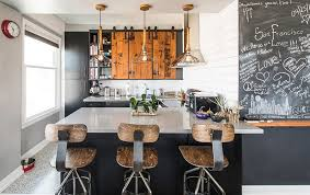 kitchen chalkboard wall steel