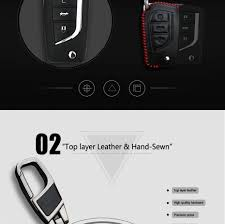 <b>Kukakey</b> Leather Car Key Cover Case Holder Keychain Accessories ...