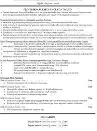 research scientist resume sample template page 2 research resume template