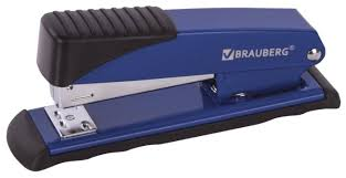 Купить <b>BRAUBERG Степлер Office</b>, для скоб <b>№24/6</b>, 26/6 синий ...