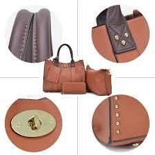 Women Tote Handbags Stud Top Handle Purse ... - Amazon.com
