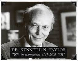 Kenneth Taylor I had the joy of having a number of conversations with Ken Taylor, in particular sitting next to him at a Gold Medallion banquet, ... - kennethtaylor