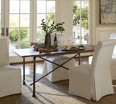 pottery barn style dining table:  austin fixed dining table o