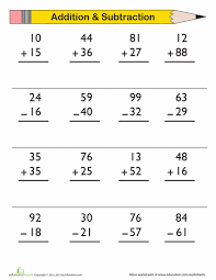 1st Grade Subtraction Worksheets & Free Printables | Education.com1st Grade. Math. Worksheet. Double-Digit Addition and Subtraction