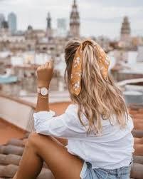 <b>Summer dress</b> and hair scarf styling   h a i r in <b>2019</b>   <b>Curly</b> hair ...