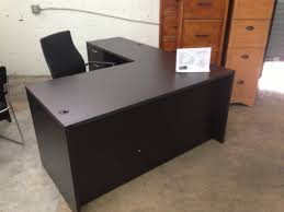 oval black wooden desk black shaped office desks