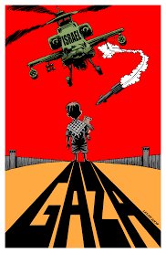 gaza suffers i warcrimes cartoon by carloslatuff click on image for high resolution image